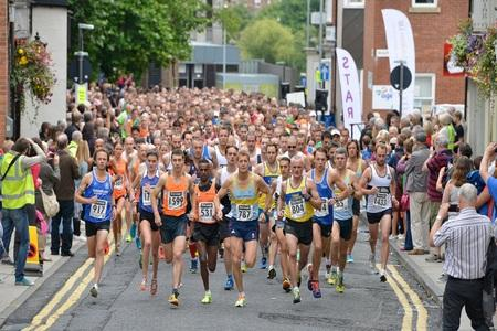 OFF AND RUNNING: Participants in the Darlington 10k last Sunday Picture: TOM YEOMAN