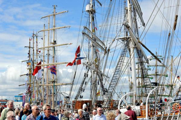 REGION RETURN: Tall ships in Hartlepool when the region last hosted the race, in 2010.