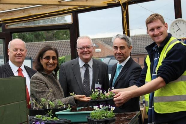 Fred McCrindle, Shaw Trust Trustee; Cha Patel, Shaw Trust Trustee; Councillor Jim Beall; Roy O'Shaughnessy, Shaw Trust Chief Executive