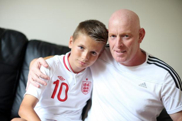 Jason Gaskell, pictured at home in Darlington with his grandson Morgan.