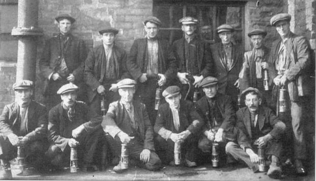 Pity Me - Pitmen at Framwellgate Colliery around 1823. Many Pity Me miners worked at the colliery - courtesy of Michael Richardson, from his book Memory Lane Durham City