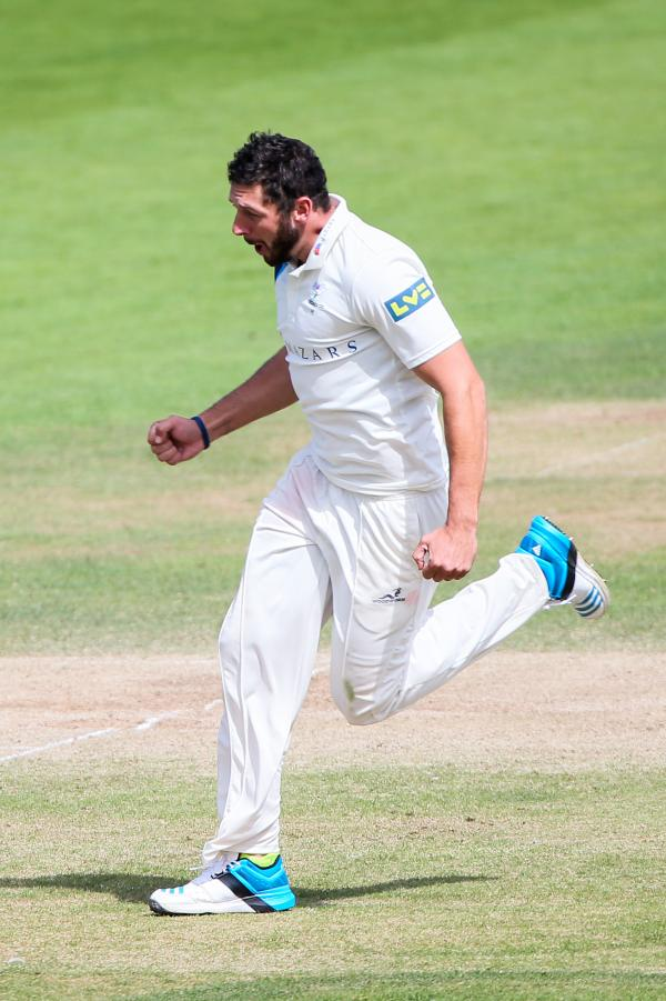 ON THE ATTACK: Tim Bresnan and his Yorkshire team-mates are leading the County Championship