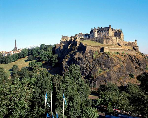UP HIGH: Edinburgh Castle, seen here from Princes Street Gardens, dominates the city from its position high on a volcanic mound
