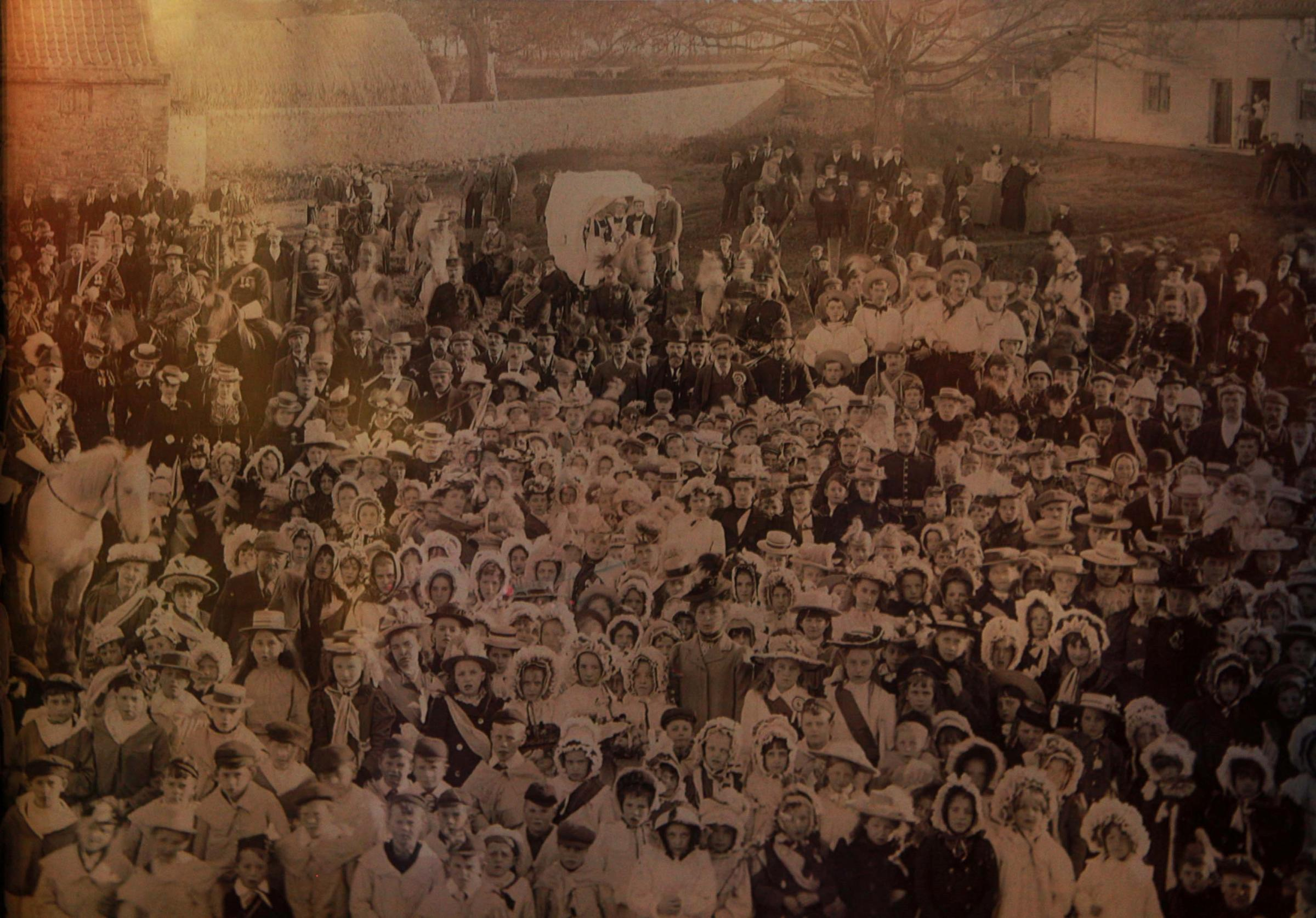 History is repeated in Hunwick when villages recreate 1900 photograph