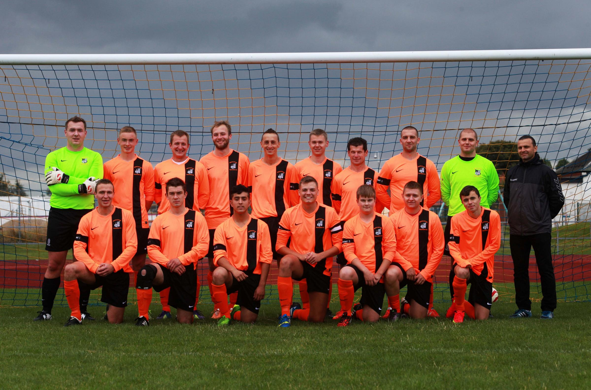 HIGH HOPES: The newly formed Polish football team at Middleton Rangers Football Club, in Darlington  Picture: SARAH CALDECOTT