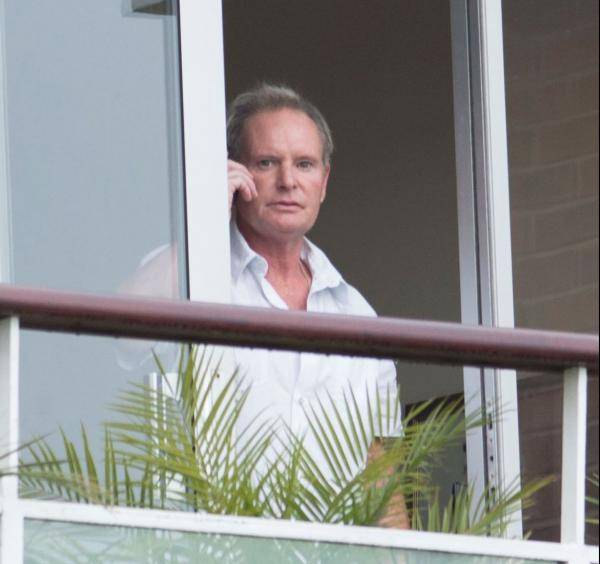 Paul Gascoigne at his home