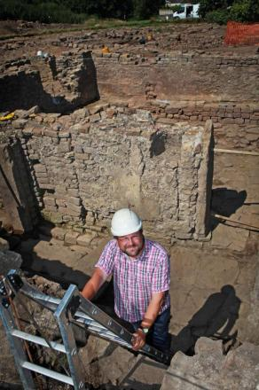 Archaeologists recently discovered a Roman bath house at the site