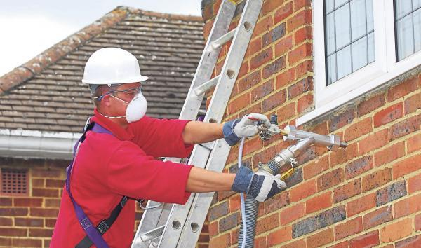 CAVITY WALL INSULATION: Landlords can opt for a number of different ways to make their rental properties more energy efficient