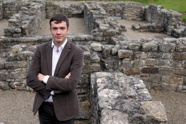 ROMAN REMAINS: Head curator at Auckland Castle, Chris Ferguson, at the Binchester Roman Fort near Bishop Auckland, which has been put up for sale Picture: CHRIS BOOTH