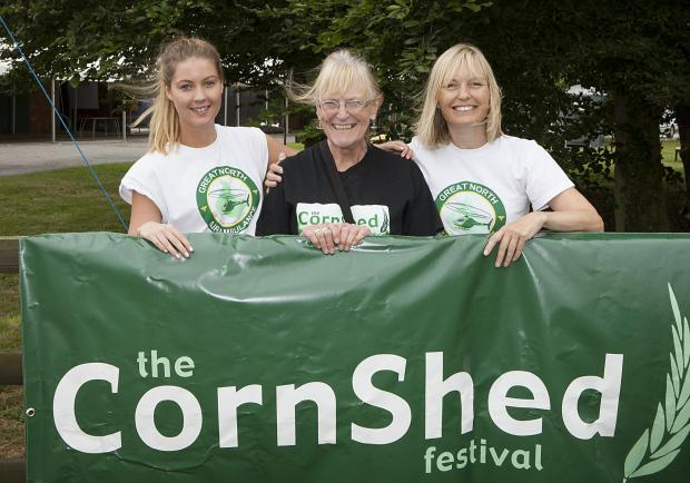 FUND RAISING: (l-r) Sarah Zissler of GNAAS, Judy Kitching MBE and Ruth Davey of GNAAS, ahead of this year's Cornshed Charity Beer Festival