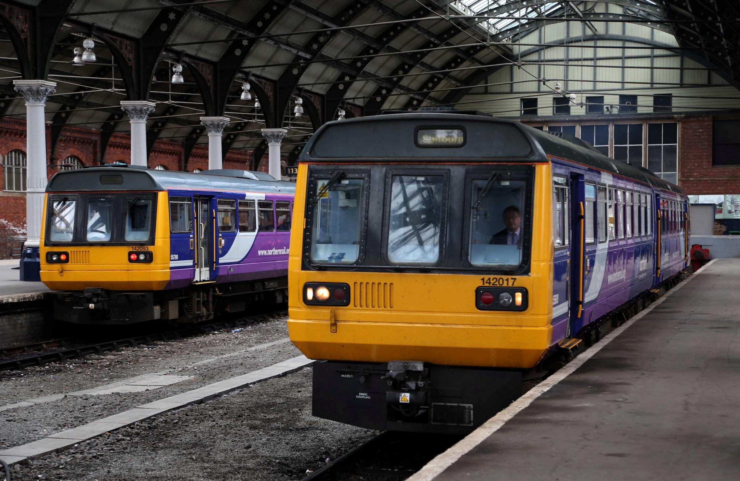 Rail services have been disrupted by trespassers between Durham and Newcastle