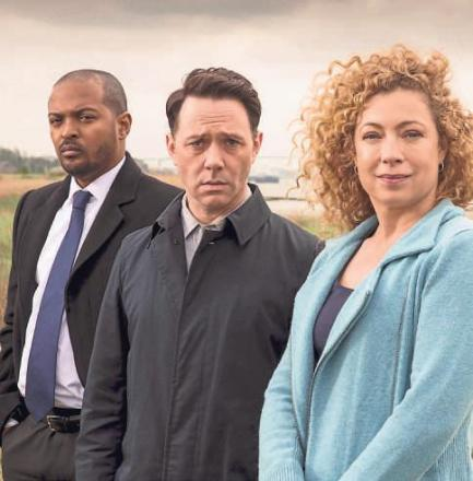 Noel Clarke as DCI Carl Prior, Reece Shearsmith as DS Sean Stone and Alex Kingston as Ruth Hattersley