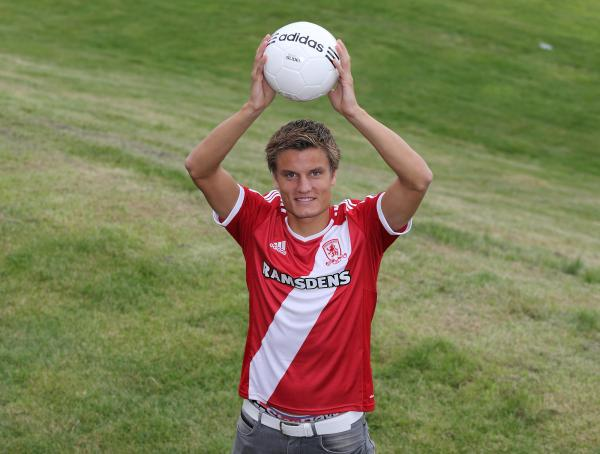BIG ARRIVAL: Boro have signed Jelle Vossen - but will they play him where he is most effective?