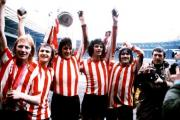 GLORIOUS PAST: Sunderland's players celebrate the club's FA Cup success in 1973