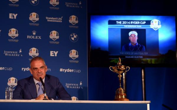 CAPTAIN'S CALL: Paul McGinley during a press conference at Wentworth Golf Club yesterday whenn he named his Ryder Cup team