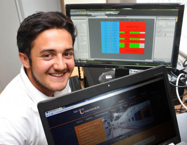 AWARD HOPE: Jordan Wales, of Applied Integration, has been put forward for the Apprentice of the Year Award at Hartlepool College