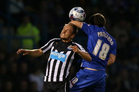 PLEA FOR PATIENCE: Siem de Jong, pictured during the Capital One Cup win over Gillingham, admits it will take time for Newcastle's summer signings to form a team