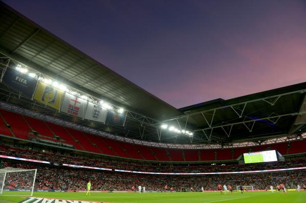 EMPTY SEATS: More than half of Wembley's seats were empty as the stadium hosted England's 1-0 win over Norway on Wednesday night