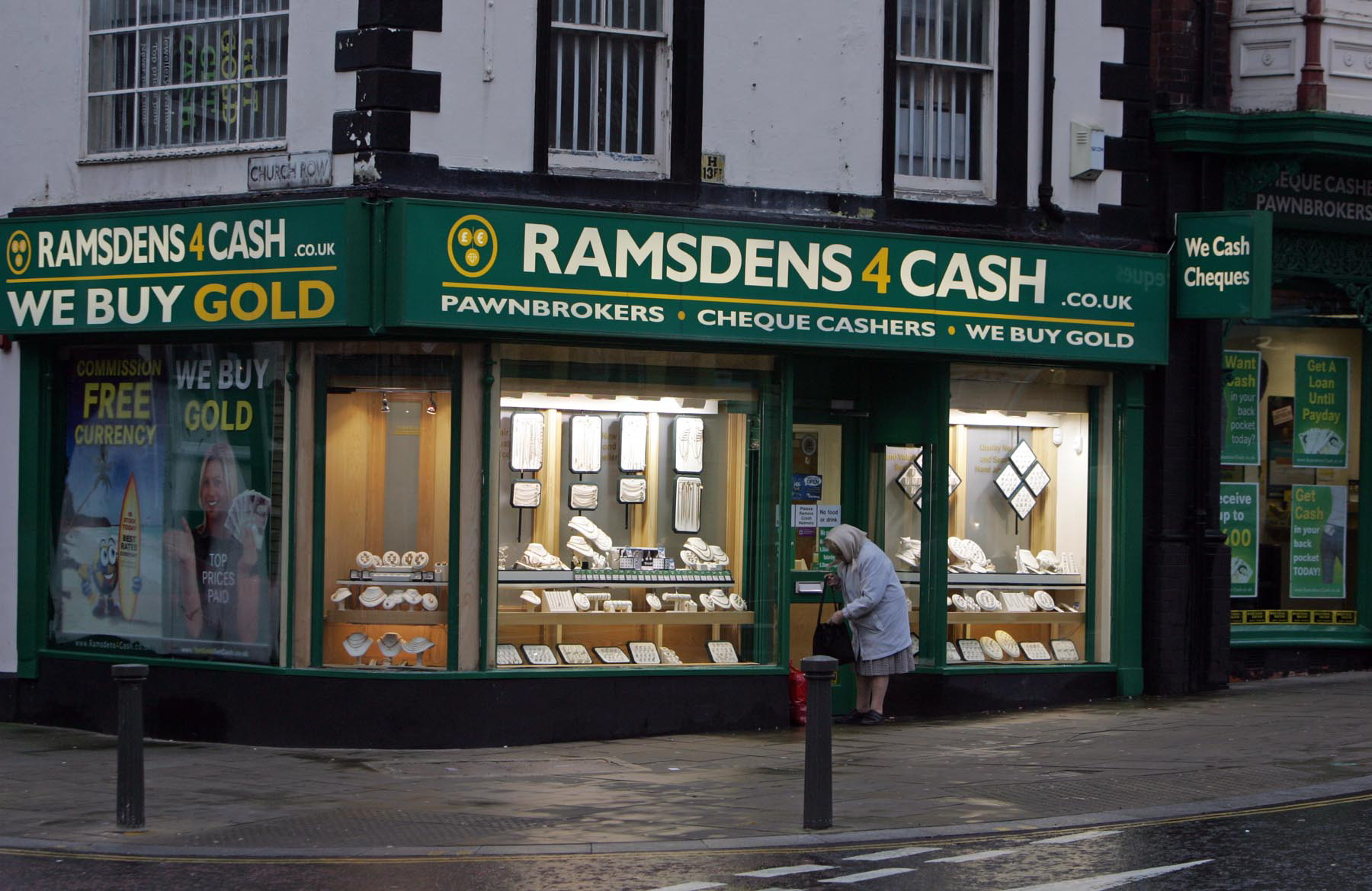 Ramsdens pawnbrokers, on Tubwell Row, Darlington