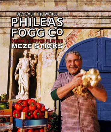 A previous advertising campaign for Phileas Fogg crisps