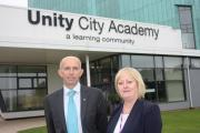 Unity City Academy's new head of school, Richard Harrison, pictured with executive principal Sue Hare.