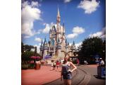 Sunderland University graduate pictured at her new place of work, Walt Disney World in Florida,  USA.