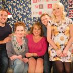 The Northern Echo: Undated ITV Handout Photo from Coronation Street. Pictured: Left to Right: Tyrone Dobbs (Alan Halsall), Fiz Stape (Jennie McAlpine), Cilla Battersby-Brown (Wendi Peters), Chesney Brown (Sam Aston), Sinead Tinker (Katie McGlynn). See PA Feature TV Peters .