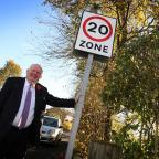 The Northern Echo: SPEED LIMIT: Councillor Dennis Southwell is backing a campaign to introduce 20-miles per hour speed limits across County Durham. Picture: TOM BANKS (12113181)