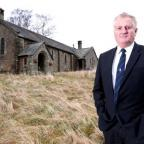 The Northern Echo: VILLAGE CHURCH: County councillor John Shuttleworth outside of Rookhope Parish Church