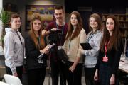 VIDEO VOTE: (L-R) Samantha Stoves, 17, Bethany Lamond, 17, Jack Carlin, 18, Kayleigh Gates, 17, Katie O'Malley, 16, and Megan Patterson of Bite The Ballot.