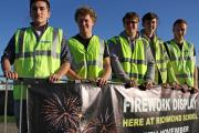 GETTING READY: Students make their final preparations for the town's annual council fireworks, L-R, Ben Purkiss-McEndoo, 18, of Aske Estate, Jack Harrild, 17, of Richmond, Reece Bradshaw, 17, of Skeeby, Ben Walker, 16, of Richmond and Angus Bankier, 18,