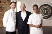 IN THE KITCHEN: From left, Marcus Wareing, Gregg Wallace and Monica Galetti