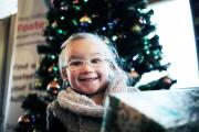 TOY APPEAL: 4-year-old Tiffany Iley at the launch of the Cash for Kids toy appeal in Stockton.