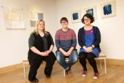 NEW SHOW: (L to R) Artists in residents at Greenfield Arts, Vicky Holbrough, Nicola Golightly and Anna Cole, pictured in the gallery with their new exhibition, Modus Operandi. Picture: TOM BANKS