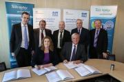 Pictured at the signing of the Growth Deal are Penny Mordaunt, Local Growth Minister and Sandy Anderson, Tees Valley Unlimited chairman, front right. Back, from left to right, are Stockton South MP James Wharton, Councillor Bill Dixon, Councillor Christop