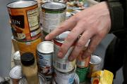 DONATIONS: A food bank takes delivery