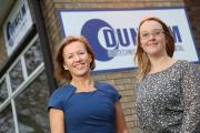 GROWING COMPANY: Ann Izatt-Lowry, Dunelm Geotechnical and Environmental operations director, left, with Kate Ward, Investment for Growth business adviser