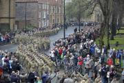 STREET SALUTE: The Medical Regiment Marches through York