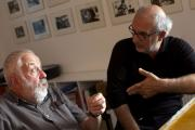 Programme Name: Imagine...The One and Only Mike Leigh - TX: 02/12/2014 - Episode: n/a (No. n/a) - Picture Shows: (L-R) Mike Leigh, Alan Yentob - (C) BBC - Photographer: Neil Harvey (13241478)