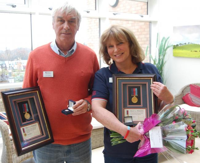 VOLUNTEERS: Chris Morgan and Di Williamson, who have received recognition for their work at Phoenix House