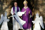 Angels about: Rev Ian Robinson with Bishop James Bell