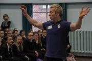 URGING SUCCESS: Inspiring a generation, athlete Craig Heap talks to students at Risedale Sports and Community College.
