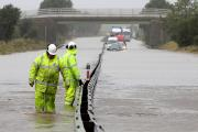 FLOODING: The A1 at Scotch Corner in 2012 when flooding caused the A1 to close in both directions