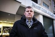 ROBBERY: Temporary Detective Chief Inspector John Ward outside Market Cross Jewellers in Middlesbrough. Picture: STUART BOULTON.
