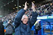 WELCOME: Hartlepool United manager Ronnie Moore applauds the fans at Tranmere Rovers where he received a warm welcome on Saturday. Picture: Daniel Chesterton/phcimages.com