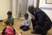 FUNDING: Minister for Children, Sam Gyimah, pictured during a visit to the St Mary's Nursery in Bristol to announce new funding for early years education