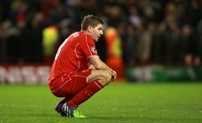 021dc8be3e HAMSTRUNG: Liverpool's Steven Gerrard suffered a hamstring strain this week  Picture: Peter Byrne/
