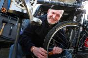 BIKE BUSINESS: Paul Stockdale, who has set up his new business Dr Spokes in Witton-Le-Wear Picture: SARAH CALDECOTT