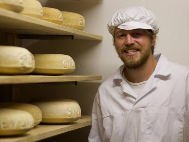EVICTIONS: Eddie Thornton, cheese-maker at Botton, in happier times