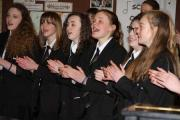 TUNE-UP: Northallerton College's choir rehearses for the charity concert.